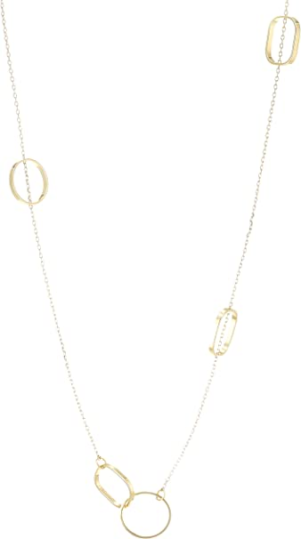 Combo A 17 One Size Herstellergr/ö/ße: OS Scotch /& Soda Maison Damen Halskette with Hoops Gold