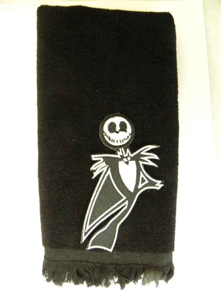 Amazon.com: Jack Skellington hand towel black vintage applique ...
