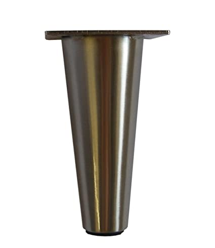 brass and metal furniture. Metal Furniture Legs Round Tapered Brass Or Satin Nickel 6.5\u0026quot; H Heavy Duty Modern Affordable And