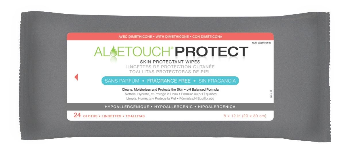Medline MSC095281H Aloetouch PROTECT Dimethicone Skin Protectant Wipes