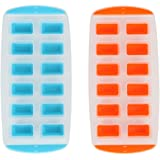 Lily's Home Ice Cube Trays with Easy Push Pop Ice Cubes. Pack of 2