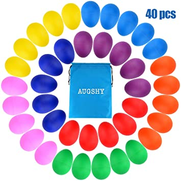 Amazon.com: 40 piezas de huevos de plástico para percusión ...