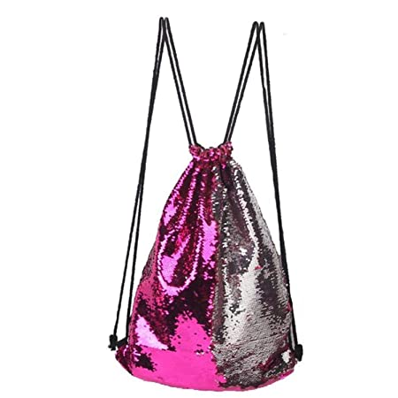 Amazon.com: Drawstring Bag Strap Panelled Double Color Sequins Women Men Shoulder Bag Straps for Backpack E: Computers & Accessories