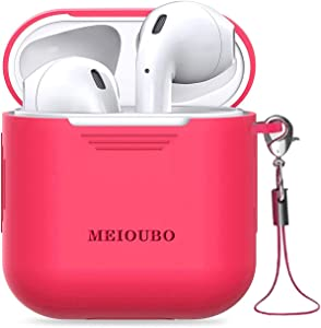 Wireless Earbuds Bluetooth 5.0 Headphones with Charging Case Waterproof Built-in Microphone Earphones with Noise Cancelling 3D Stereo Earpods for iPhone Airpods Android Samsung (Crimson)