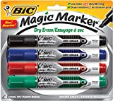 Low odor and bold writing with one marker. Erases easily and provides smooth, consistent ink flow. Features a see-through label that indicates when ink is low. For use on dry erase boards and other nonporous surfaces. Marker Type: Dry Erase; Assortme...