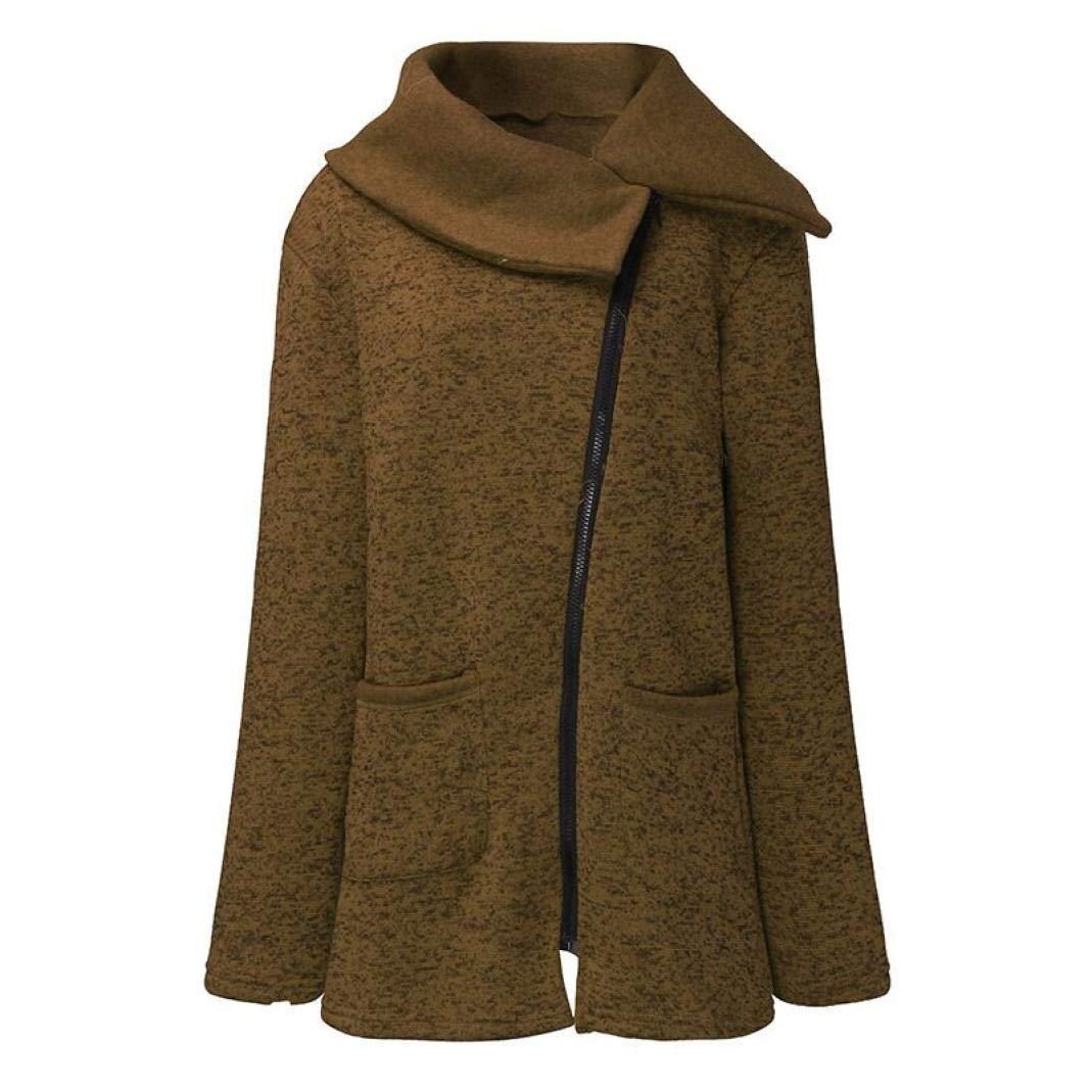 GOVOW Jacket Coat Winter Womens Clearance Sale Casual Solid Long Zipper Sweatshirt Outwear Tops