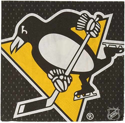 Amscan Sports and Tailgating NHL Pittsburgh Penguins Luncheon Childrens-Party-Napkins, 96 Pieces -