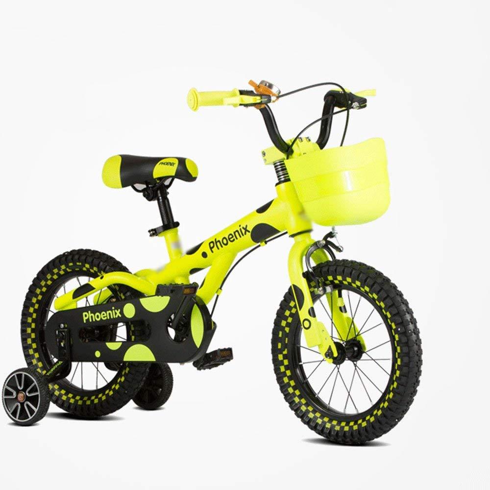 Kinderfahrräder JJ Reisen im Freien, Gelb & Grün & Orange (12 Zoll, 14 Zoll, 16 Zoll) Gelb 12 inches