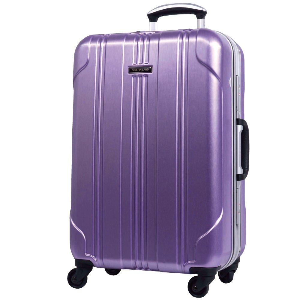 [グリフィンランド]_Griffinland TSAロック搭載 スーツケース ストッパー付 SELICA-R フレーム開閉式 【1年間修理保証対応】 M型 ウィステリア B00CAIKTWE