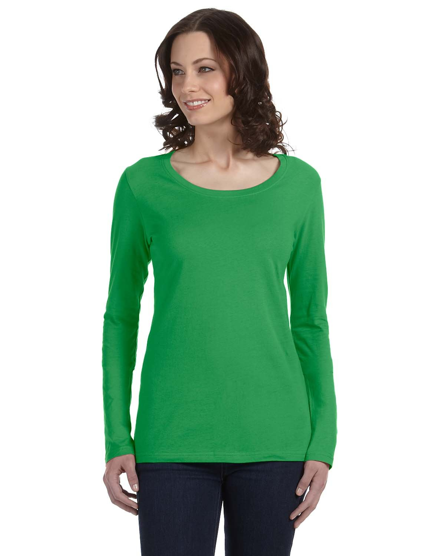 Anvil Women's Sheer Long-Sleeve Scoop Neck T-Shirt
