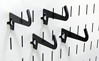 product image for Wall Control Pegboard 3-1/2in Reach Curved Tip Slotted Hook Pack - Slotted Metal Pegboard Hooks for Wall Control Pegboard and Slotted Tool Board – Black