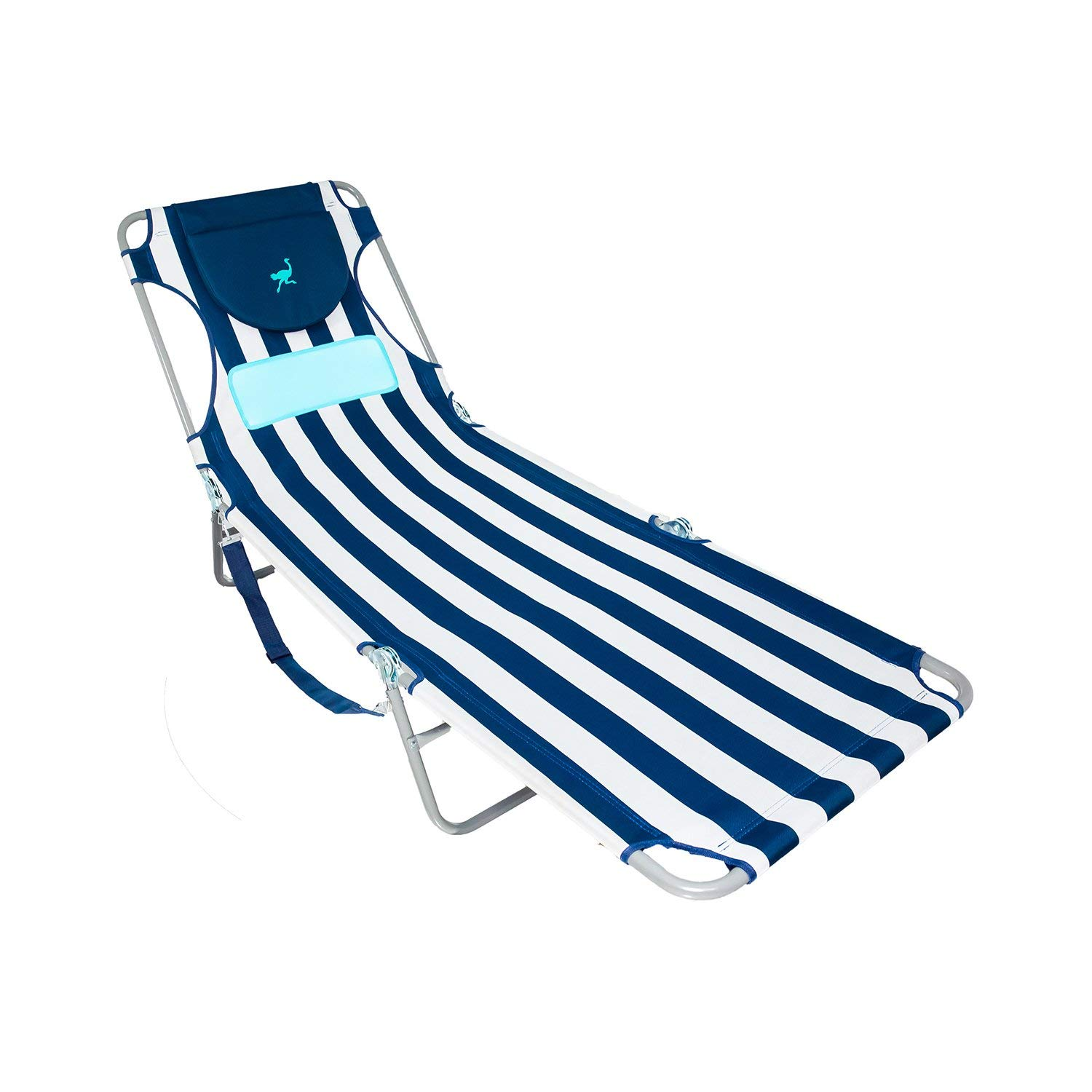 Ostrich LCL-1006S LCL Ladies Comfort Lounger Striped, Blue and White