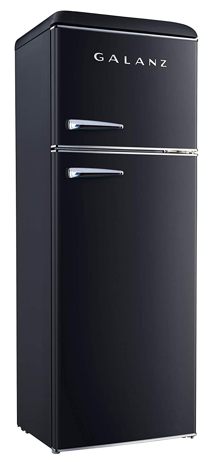 Galanz - Retro Look Refrigerator, 12.0 Cu Ft Refrigerator Top Mounted, Frost Free(RETRO), E-STAR Black