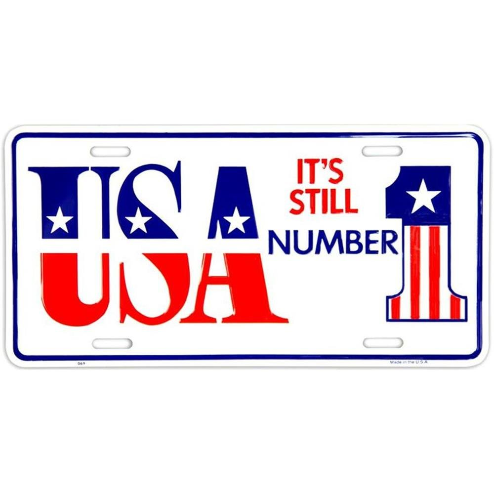 Signs 4 Fun SL69 USA Still #1 License Plate