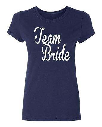OPO-T Camiseta de algodón para Mujer Bridesmaids Team Bride ...
