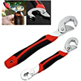 FAMI New 2PC Snap'N Grip 9-32mm Adjustable Wrench Spanner Universal Quick Multi-function …