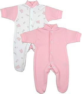 BabyPrem Fr/ühchen Baby 2 Schlafanz/üge Strampler Fr/ühgeborene Kleidung M/ädchen Teddy 0-50cm