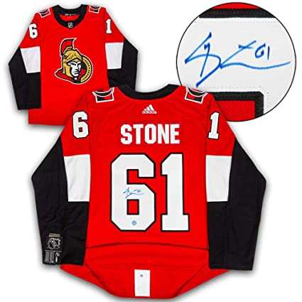 dc8728e85 Image Unavailable. Image not available for. Color  Mark Stone Ottawa  Senators Autographed Autograph Adidas Authentic Hockey Jersey ...