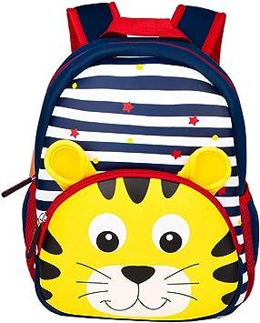 Oferta amazon: Yeelan Mochila Impermeable para niños Mochila de guardería Mochila para niños Mochila Escolar para niños pequeños para Viajes preescolares, etc. (Tigre o león a Rayas de Neopreno, Enviar al Azar)