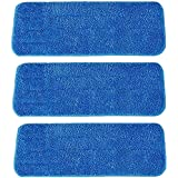 Microfiber Spray Mop Replacement Heads for Wet/Dry Mops Floor Cleaning Pads Compatible with Bona Floor Care System (3 Pack)