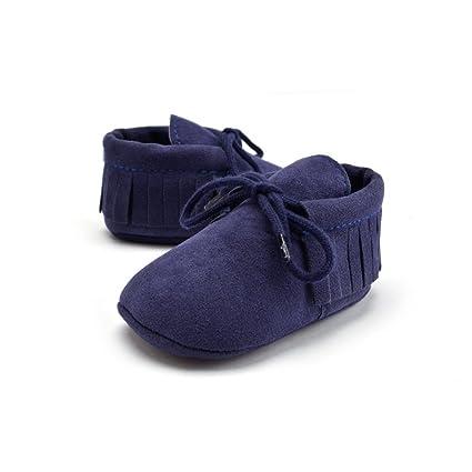 Zapatos De Bebé, Morbuy Regalo de navidad primeros pasos para niño niña Borla zapatillas de