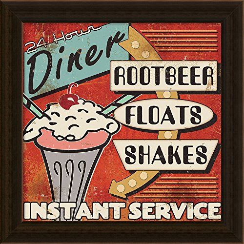 Diners and Drive Ins III by Pela Studio Framed Canvas