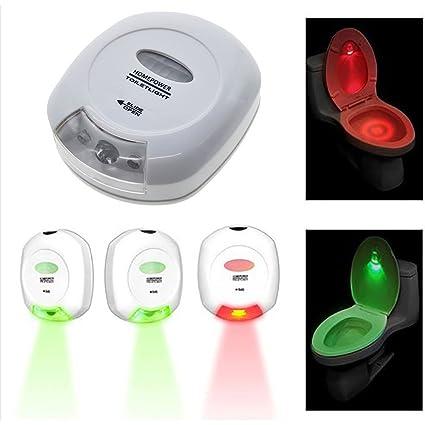 VANKER Sensor de movimiento activado luz de la noche del LED automática del asiento de inodoro