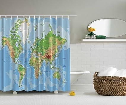 Amazon.com: New World Globe Map Design Digital Graphic Technology ...
