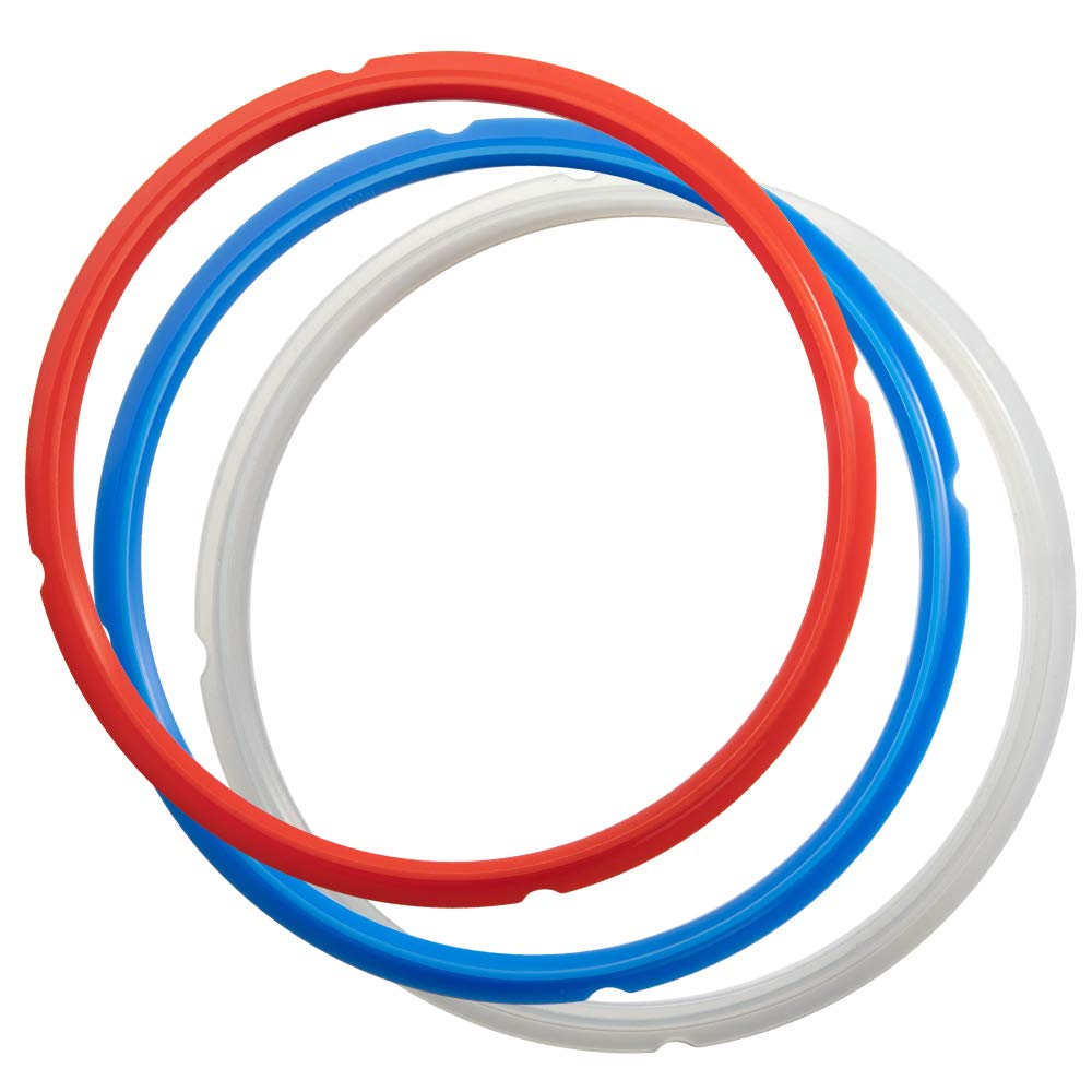 SiCheer Sealing Ring Silicone Gasket Accessories Compatible with Ninja Foodi 6.5 Quart and 8 Quart Rubber Sealer Replacement for Pressure Cooker and Air Fryer, Pack of 3, Sealing Ring-Ninja Foodi