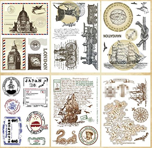 Layhome Vintage Clear Stamp Stamping Scrapbooking Notebook Album Cards Decor (Da Vinci) by Layhome (Image #5)