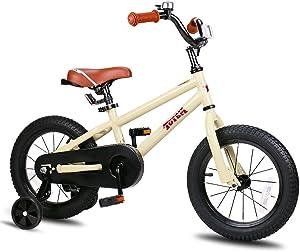 JOYSTAR Kids Bike with Training Wheels for 12 14 16 inch Bike, Kickstand for 18 inch Bike (Blue Beige Red Orange Pink Green)