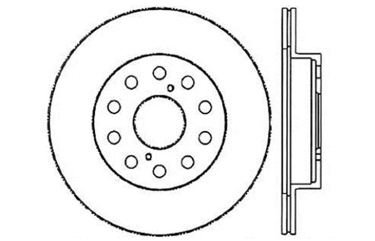 StopTech 128.44072R Sport Cross Drilled Brake Rotor Rear Right 1 Pack