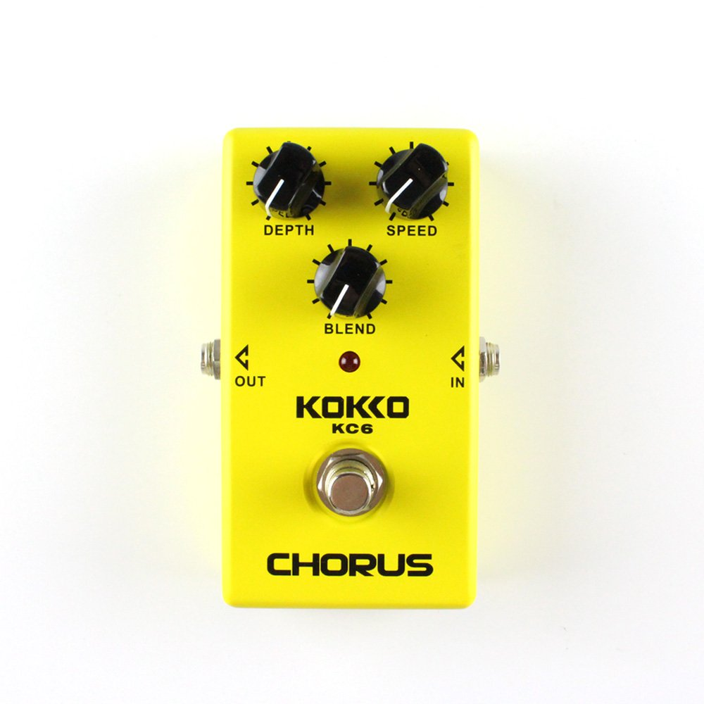 Guitar Effects Pedal, KC6 Chorus Effects Pedal Processor for Guitar and Bass - KOKKO Flanger