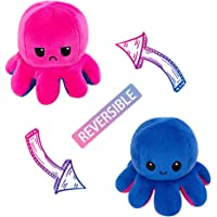 AioTio Double-sided Octopus Flip Plushie   Easy to show your mood to the parents/kids   As an interesting gift to kids…