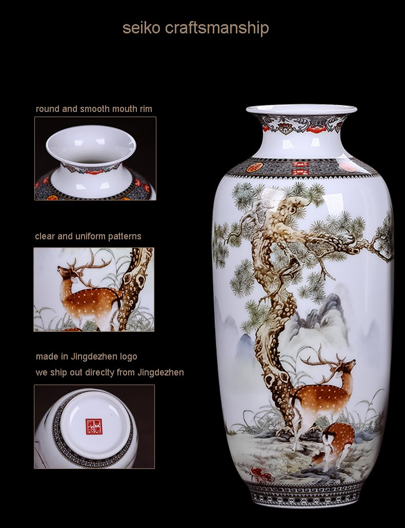 Ceramic Vase Vintage Style Animal Vase Fine Smooth Surface Home Decoration Furnishing Articles by In In (Image #7)