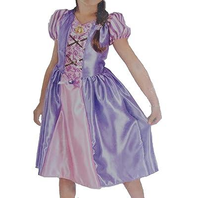 Disney Little Girl Princess Rapunzel Costume Dress 4-6x Pink/Purple: Clothing
