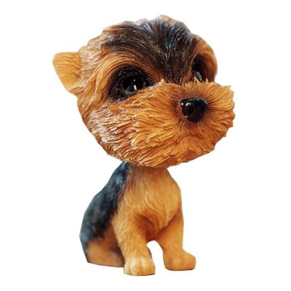 Kangkang@ [Yorkshire Terrier] Bobbleheads Car Ornaments Resin Car Decoration,4.7x2.3''