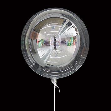 gaeruite Globo de burbujas redondo, 10 unidades, transparente, globo decorativo de helio transparente