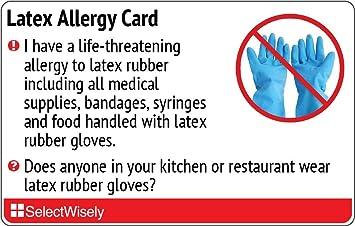 Allergy latex rubber
