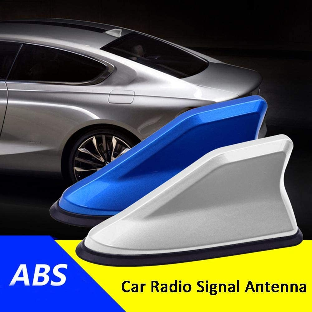 Calistouk Universal FM Amplificador de señal de Coche Antenas de Radio de Aleta de tiburón FM/AM Decoración de Techo Reemplazo Aéreo Negro