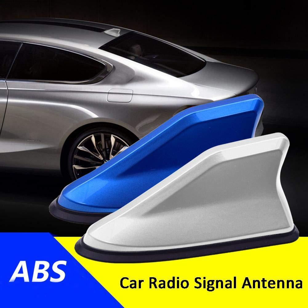Calistouk Universal FM Amplificador de se/ñal de Coche Antenas de Radio de Aleta de tibur/ón FM//AM Decoraci/ón de Techo Reemplazo A/éreo Negro
