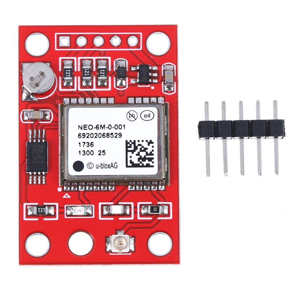 Aideepen Lot de 2 modules GPS GY-NEO6MV2 NEO-6M NEO6MV2 avec carte de contr/ôle de vol EEPROM MWC APM2 APM2.5 Grande antenne contr/ôleur pour Arduino