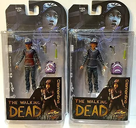 Mcfarlane the Walking Dead Comic Book Clementine Action Figure Bloody Chaser and Clean 2 Pack by Walking Dead: Amazon.es: Juguetes y juegos
