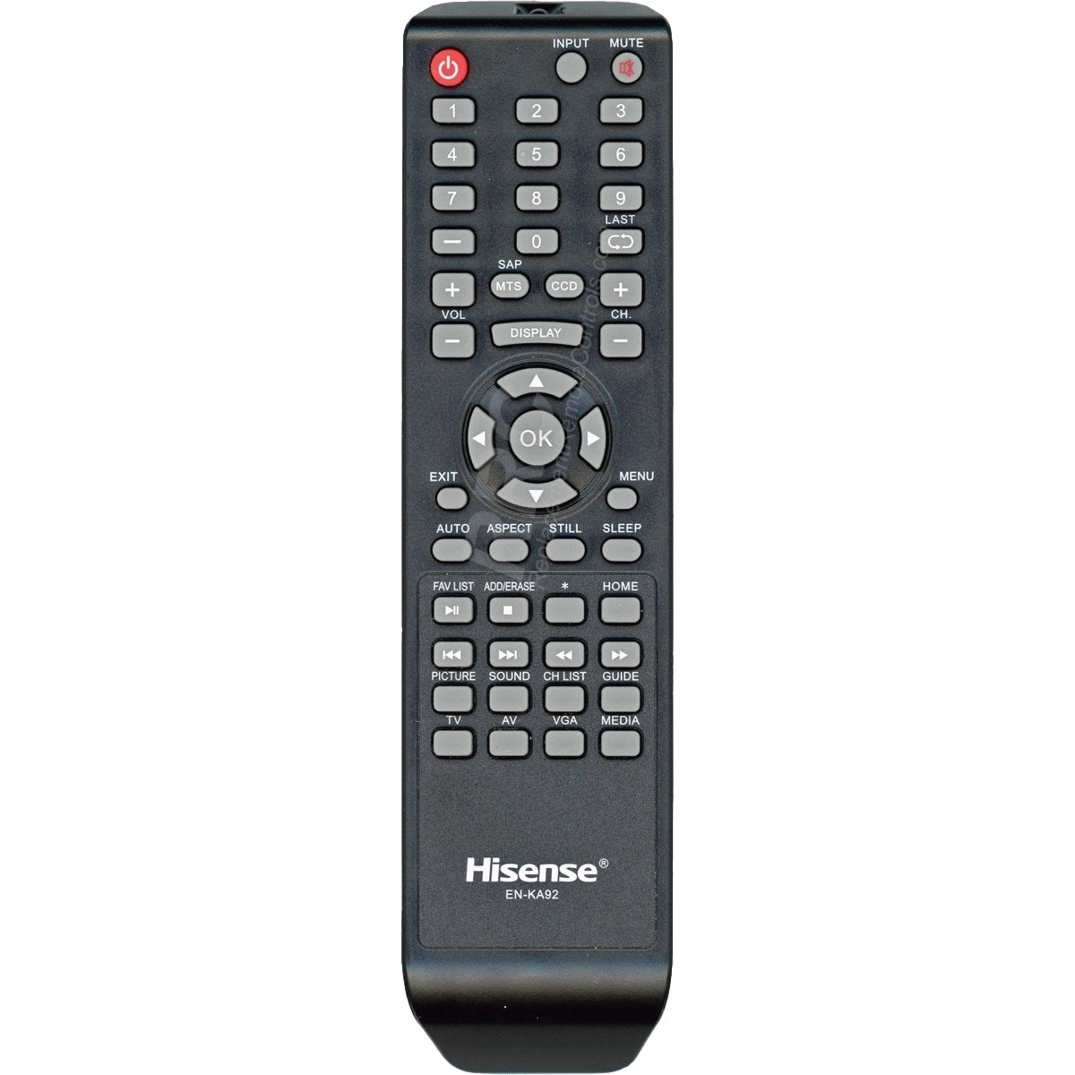 Control Remoto Hisense TV EN KA92 H3 Series led TV  Works...