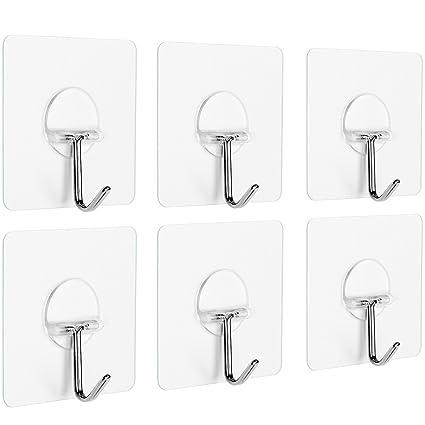 Amazon.com: Anwenk Wall Hooks Adhesive Wall Hanging Hooks Stick On ...