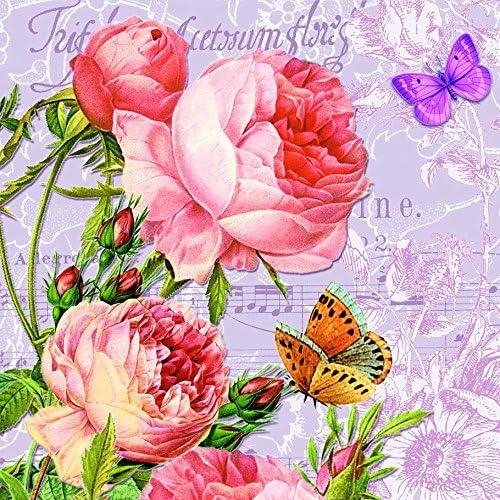 /Vintage Rose Escenario//Rosas//Flores 33/x 33/cm 20/Servilletas Morning Flavour/