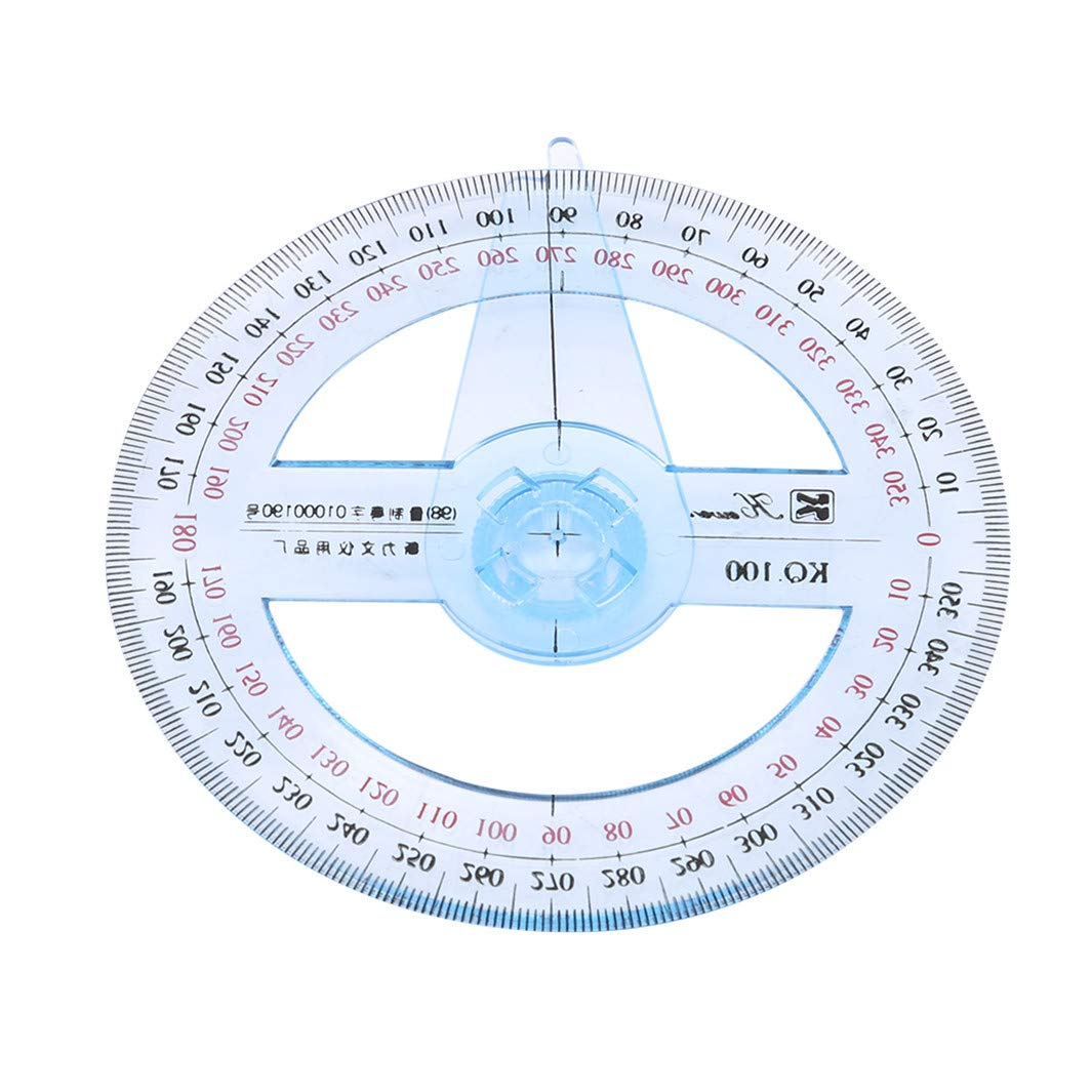 YouCY 360 Degree Protractor Ruler Circle Pointer Protractor Angle Ruler 360 Degree Swing Arm Protractor School Office Tool