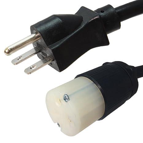 Amazon com: NEMA 6-15P to 6-20R Plug Adapter - 1 Foot, 15A/250V, 14