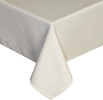 Ufriday Perfectly Weighted Tablecloth Water Proof And Stain Resistant  Honeycomb Fabric, Modern Design