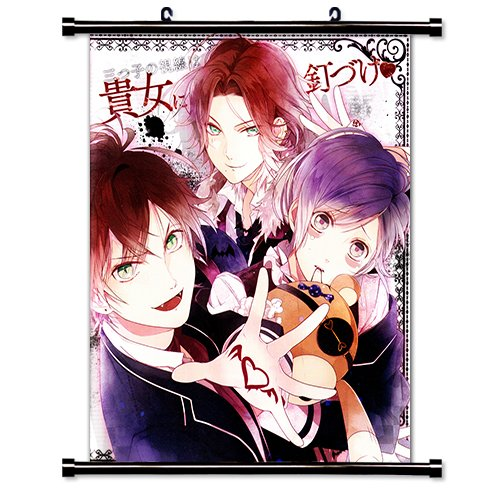 Diabolik Lovers Anime Fabric Wall Scroll Poster (16 x 20) Inches.[WP]- Diabolik Lovers-3